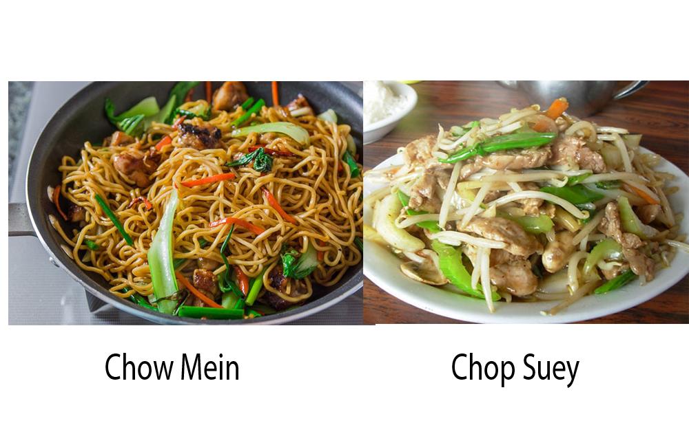 Chow Mein vs Chop Suey 1