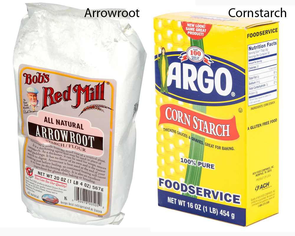 Arrowroot vs Cornstarch 1
