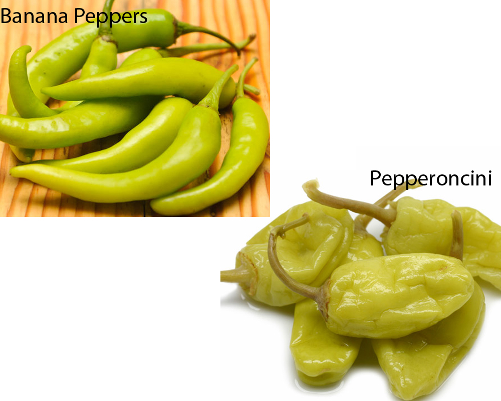 Banana Peppers vs Pepperoncini 1