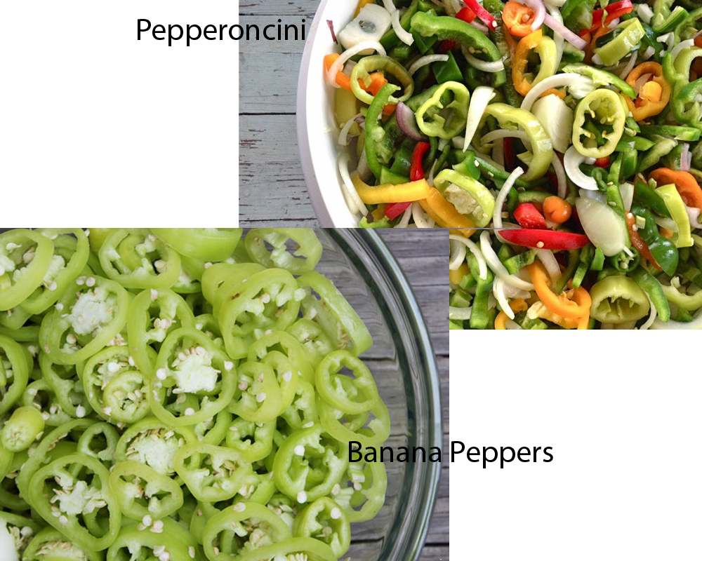 Banana Peppers vs Pepperoncini 3