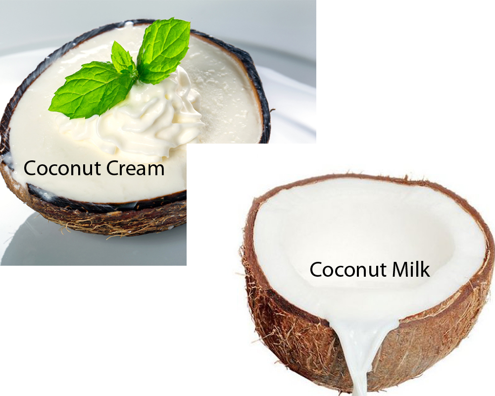Coconut Cream vs Coconut Milk 2