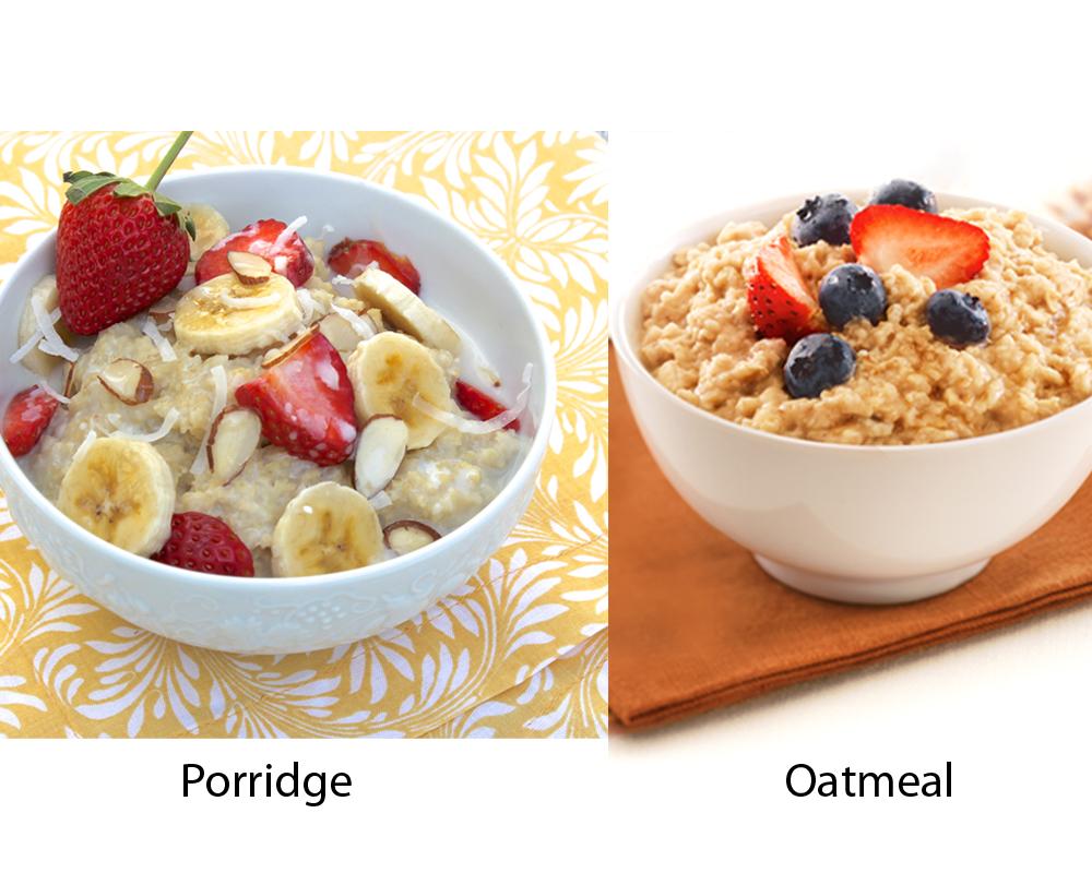 Porridge vs Oatmeal 4