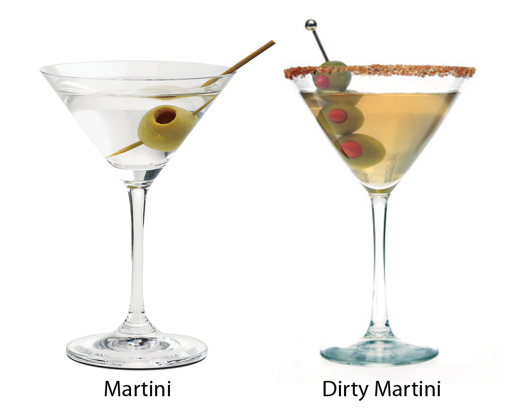 A Martini is made with Gin. And vermouth. And olives. A drink made with other ingredients has to be qualified. Vodka Martini, White Rum Martini. I have ordered