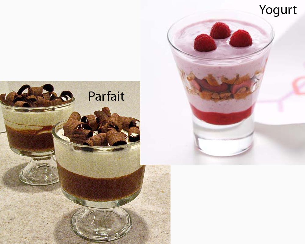 Parfait vs Yogurt 2