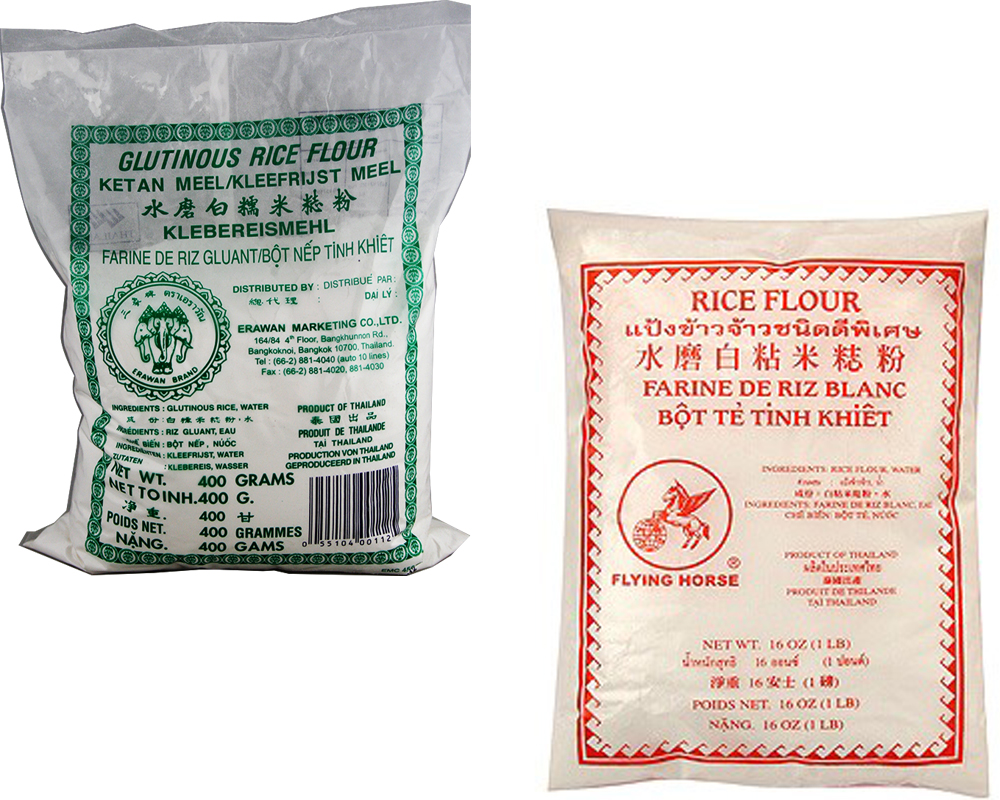 Glutinous Rice Flour vs Rice Flour