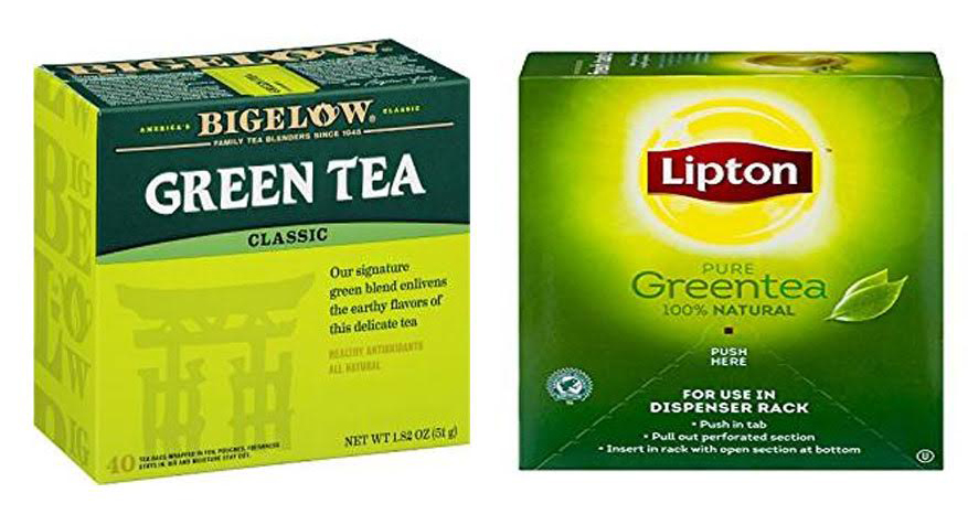 Bigelow vs Lipton Green Tea