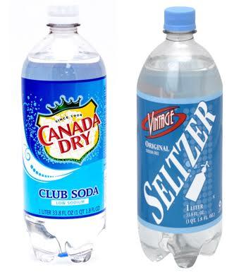 Club Soda vs Seltzer Water