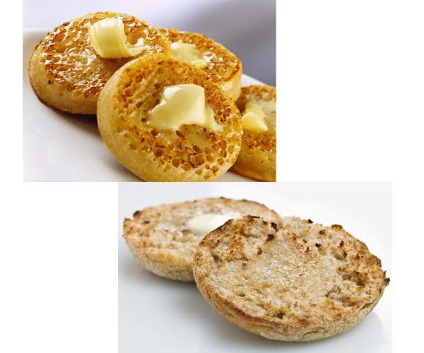Crumpets vs English Muffins