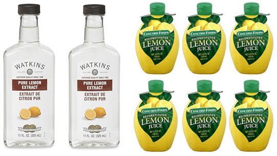 Lemon Extract vs Lemon Juice