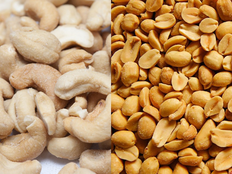 Cashews vs Peanuts