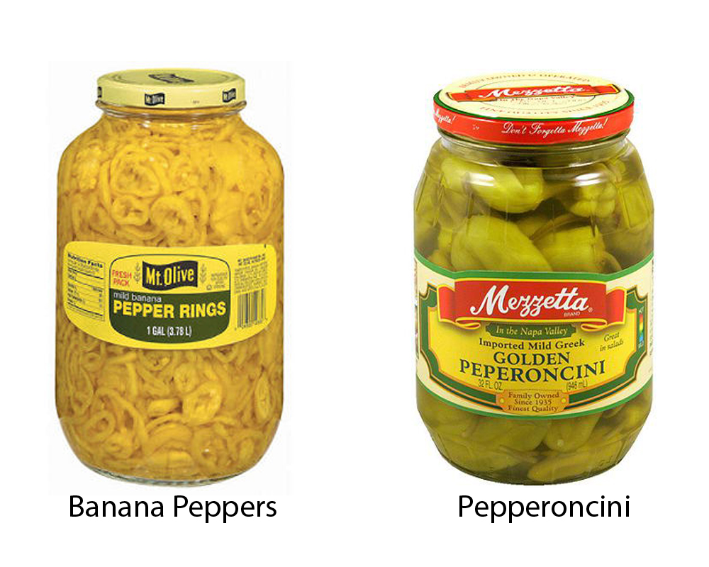 Banana Peppers vs Pepperoncini 2
