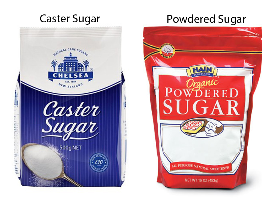 Caster Sugar vs Powdered Sugar 1