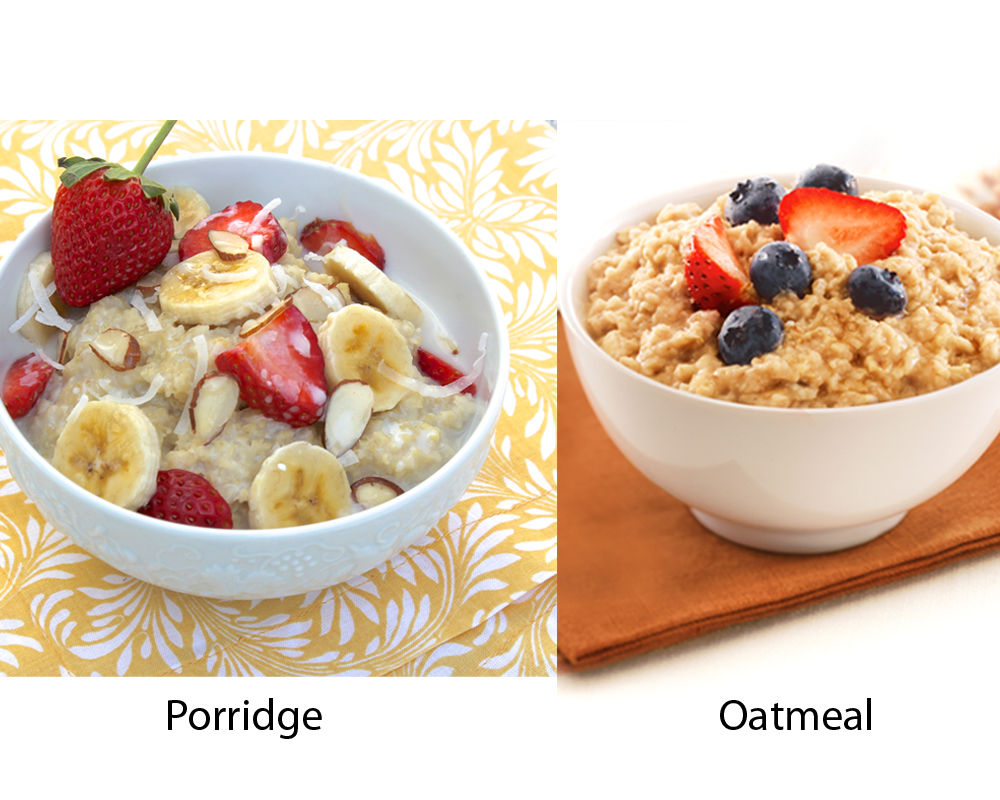 Porridge vs Oatmeal 4