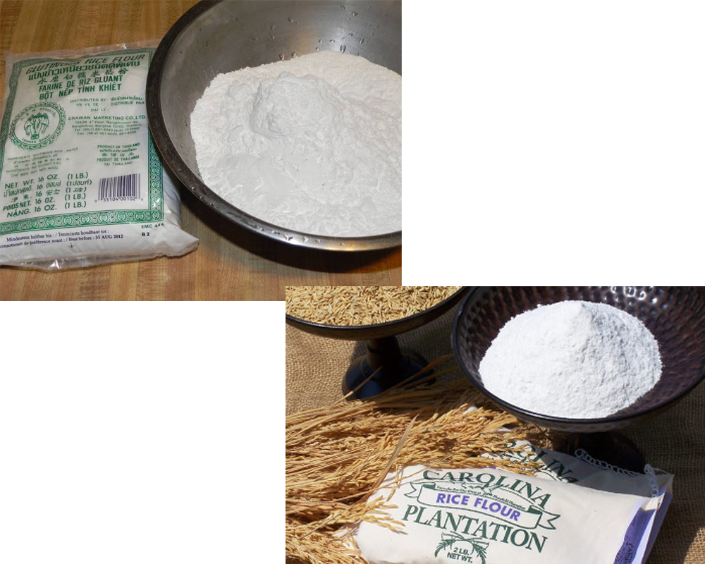 Glutinous Rice Flour vs Rice Flour 2