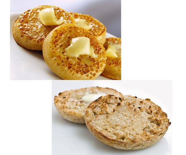 Crumpets vs English Muffins