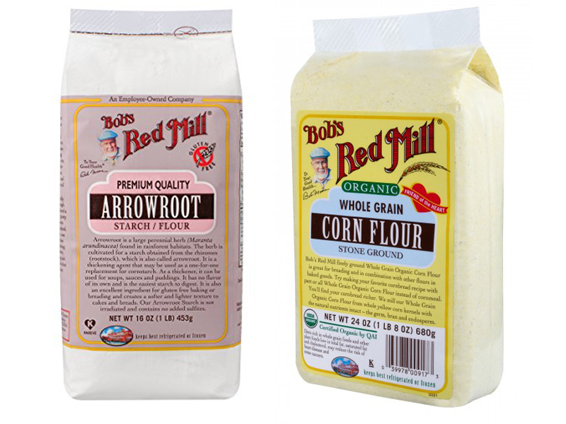 Arrowroot vs Corn Flour