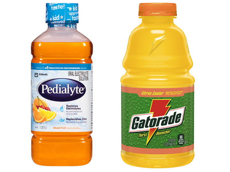 Pedialyte vs Gatorade