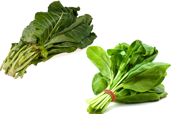collard greens vs spinach