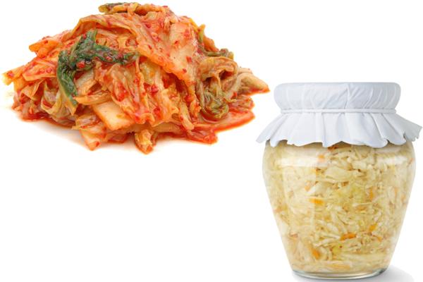 kimchi vs sauerkraut