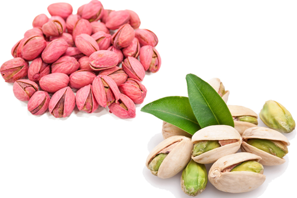red pistachios vs white pistachios