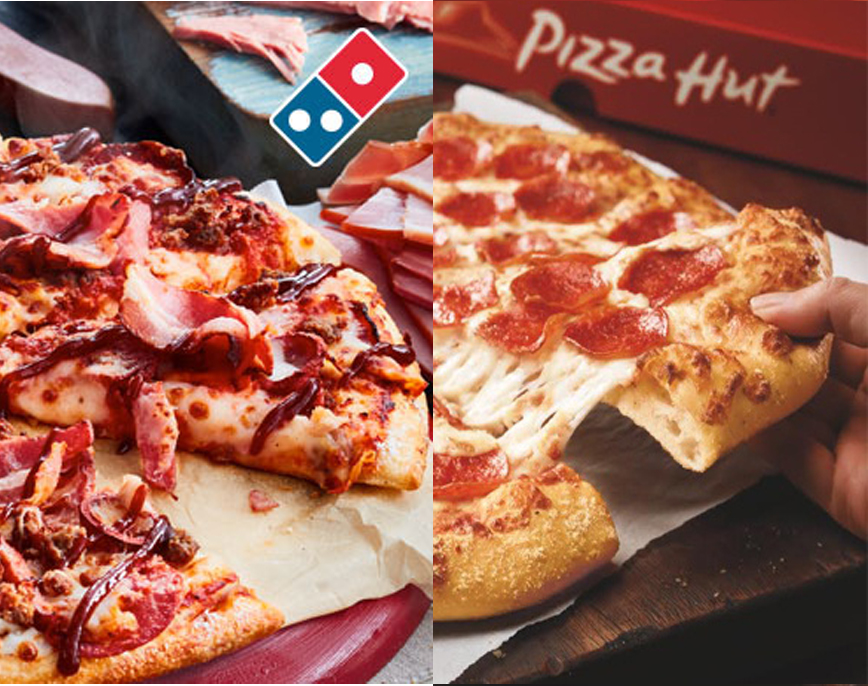 compare of pizza hut and dominos Blind taste test: pizza hut vs i would love to see a blind taste test between crusts and dominos and crusts and pizza hut its like saying lets compare which.